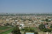 Panoramic view of Tuti island in Khartoum, Sudan