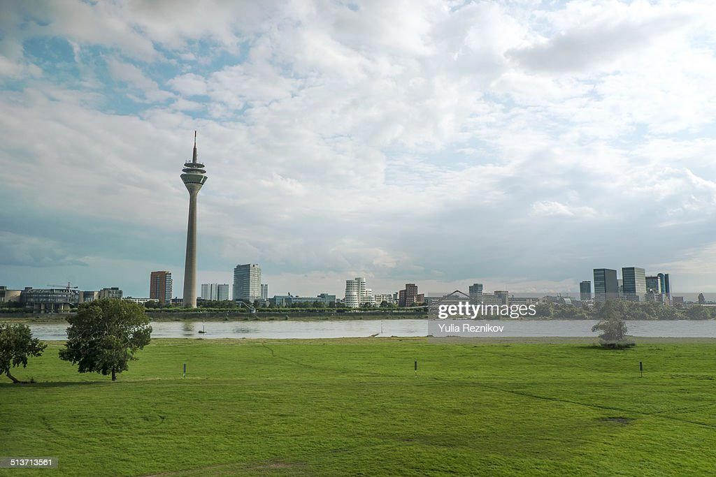 View of TV Tower and Media harbor in Duesseldorf