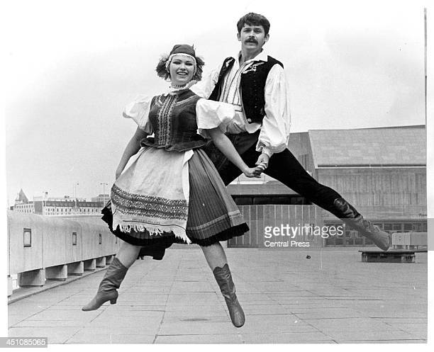 A view of two members of the Hungarian State Dance Company at the opening at the Royal Festival Hall in Budapest Hungry Circa 1950