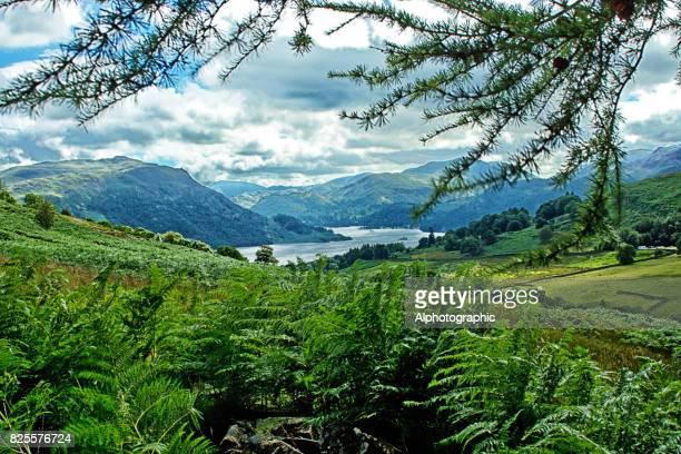 View of Ullswater in Cumbria.