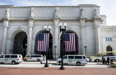 A view of Union Station from Columbus Circle May 3 2013 in Washington DC AFP PHOTO/Brendan SMIALOWSKI