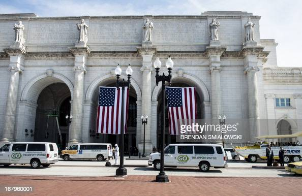 A view of Union Station from Columbus Circle May 3 2013 in Washington DC AFP PHOTO/Brendan SMIALOWSKI