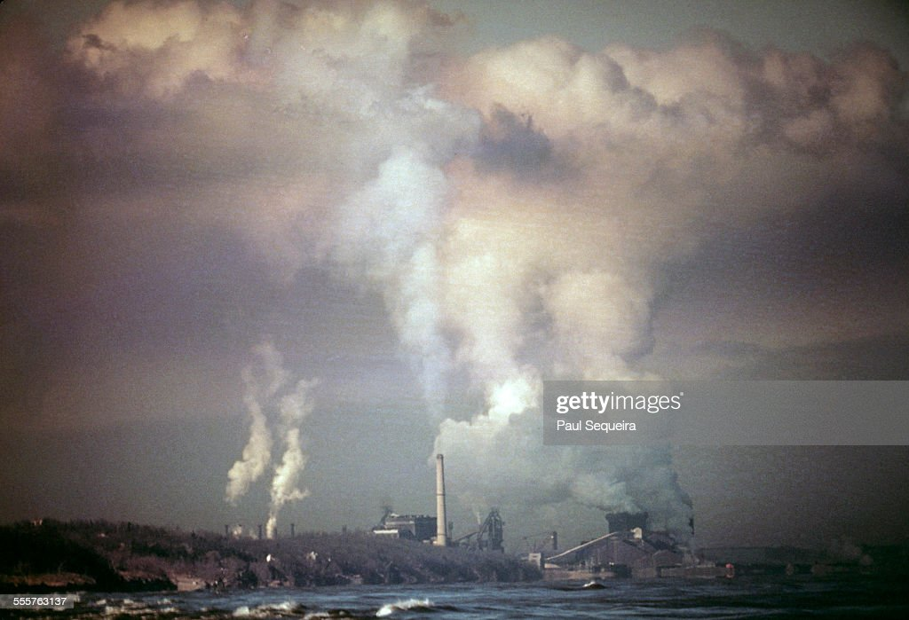 View of United States Steel factories Gary Works ...