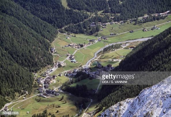 View of Val Solda Stelvio national park TrentinoAlto Adige Italy