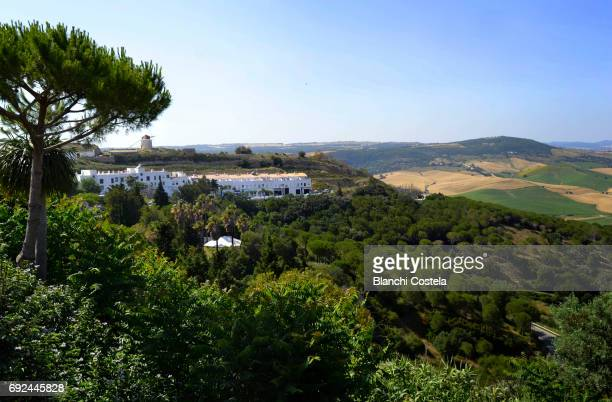View of Vejer de La Frontera in the mountains