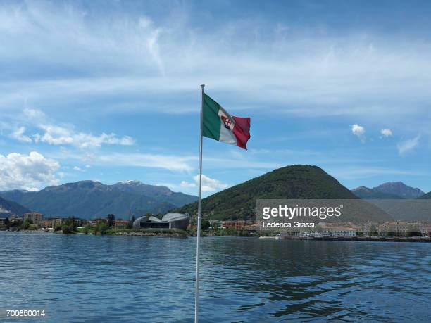 View of Verbania Intra on Lake Maggiore from a tourist boat