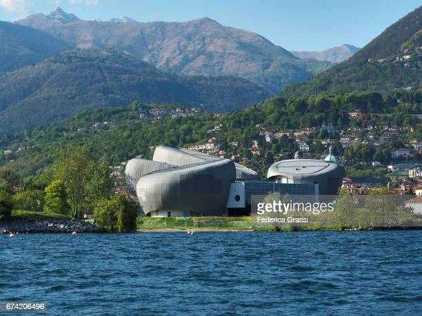 View Of Verbania Opera Hall On Lake Maggiore, Northern Italy