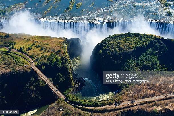 View of Victoria Falls and Bridge