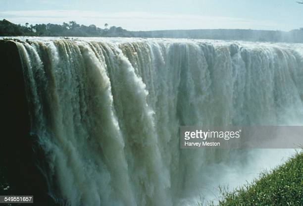 A view of Victoria Falls in Zimbabwe circa 1960
