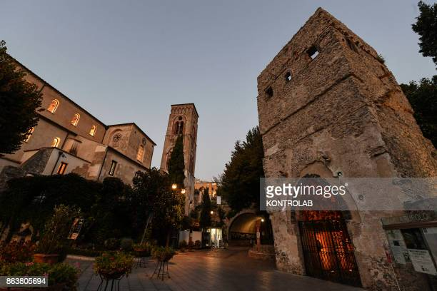 A view of Villa Rufolo in Ravello Italy Ravello is a town and situated above the Amalfi Coast