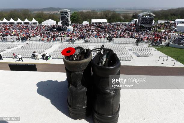 View of Vimy Ridge for the official ceremony for the Commemoration of the 100th Anniversary of Vimy Battle on April 9 2017 in Vimy France