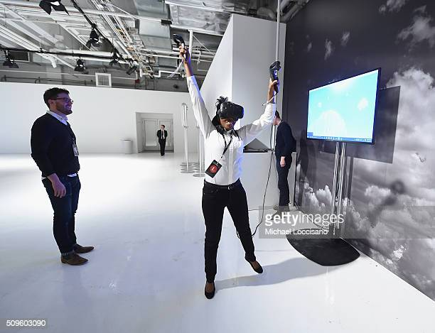 A view of Virtual Reality during Fall 2016 New York Fashion Week at the Skylight at Clarkson sq on February 11 2016 in New York City