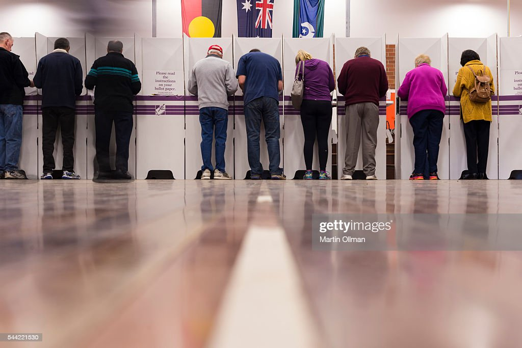 A view of voters in the electorate of Eden-Monaro on July 2, 2016 in Canberra, Australia. Voters head to the polls today to elect the 45th parliament of Australia.