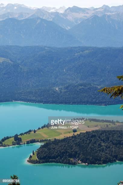 View of Walchensee lake
