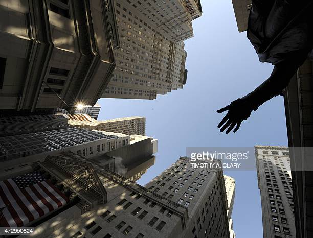 A view of Wall Street is seen from the steps of Federal Hall in lower Manhattan February 4 2009 President Barack Obama was Wednesday set to clamp a...