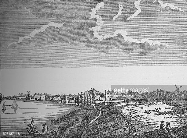 View of Wandsworth Surrey' c1780 From London South of the Thames by Sir Walter Besant [Adam Charles Black London 1912] Artist Unknown
