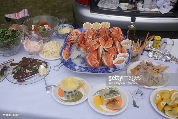 A view of well prepared meal including cold Lobster and salad at the Royal Ascot After over a decade of Labour Government in Great Britain the gap...