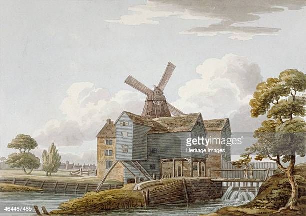 View of West Ham Mills by the River Lea West Ham Newham London c1800