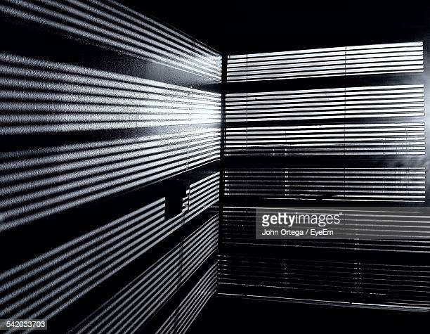 View Of Window Blinds In Sunlight