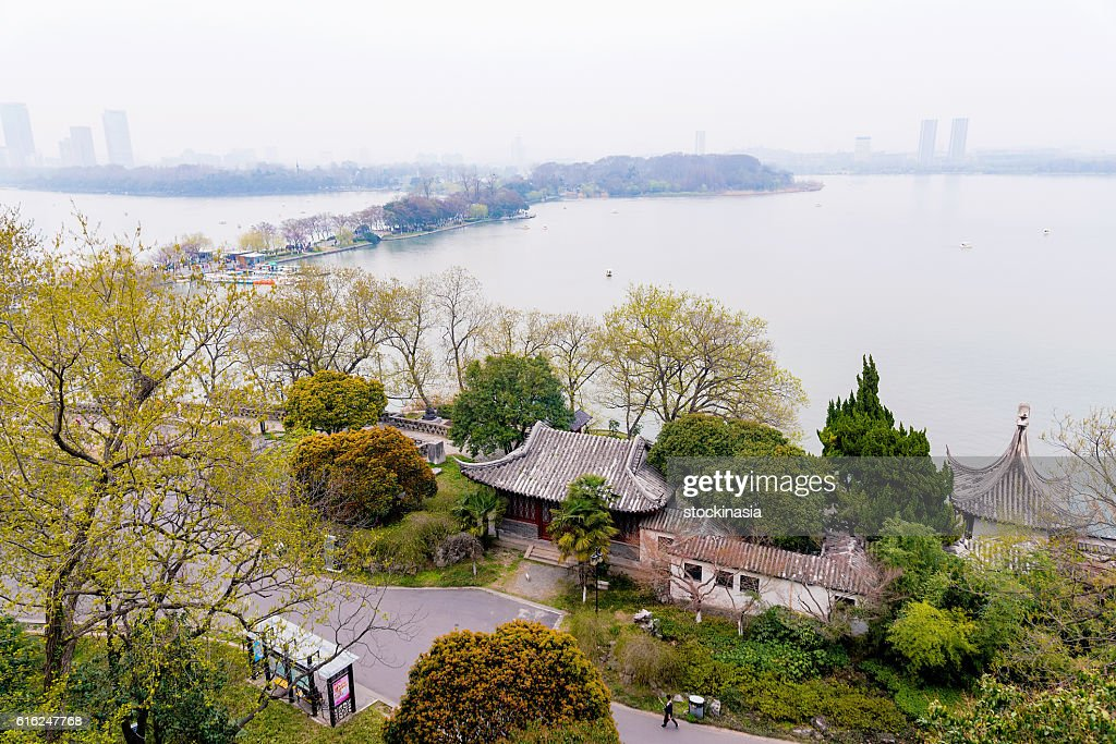 Vista do Lago Xuanwu : Foto de stock