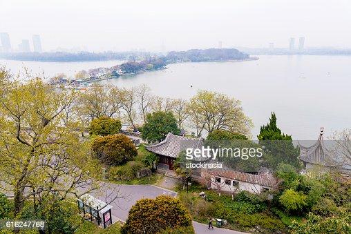Vista do Lago Xuanwu : Foto de stock