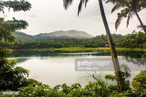 View of Yambo Lake in Laguna Philippines : Stock Photo