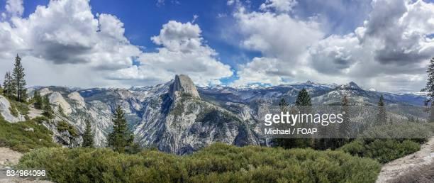 View of Yosemite National Park in California