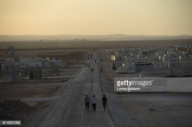 A view of Zaatari camp in Mafraq Province Jordan September 14 2013 There are roughly 120000 Syrian refugees living in the Zaatari camp and an...