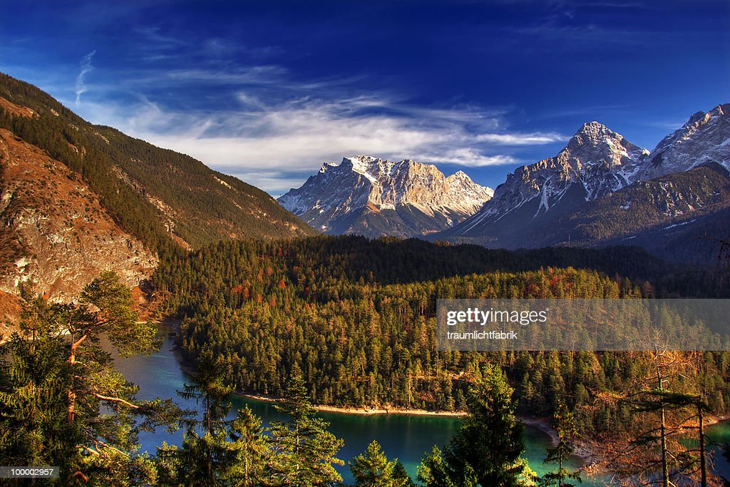 View of Zugspitze  : Stock Photo