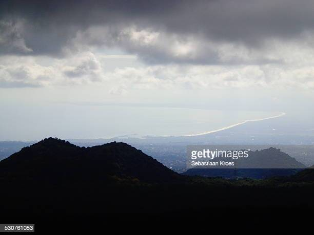 View on Catania from mount Etna, Sicily, Italy