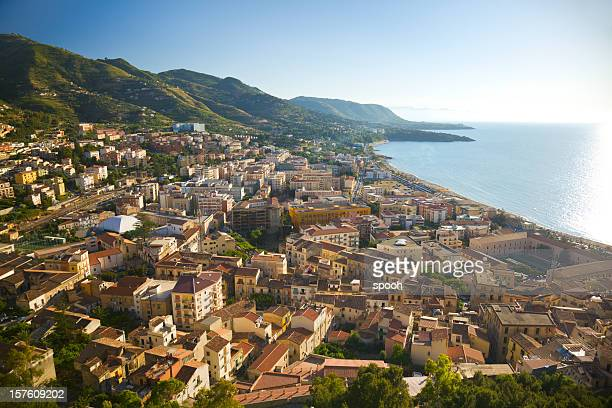 View on Cefalu on Sicily, Italy