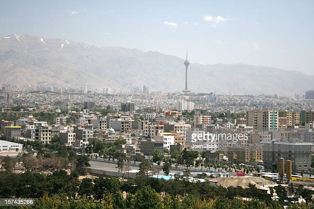 View on city of Tehran Iran
