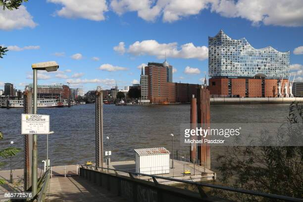 view on Elbe river and Elbphilharmonie