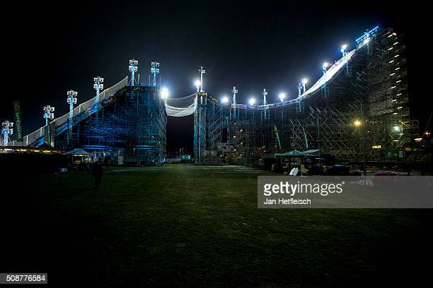A view on entrenchment during Air and Style Festival February 6 2016 in Innsbruck Austria
