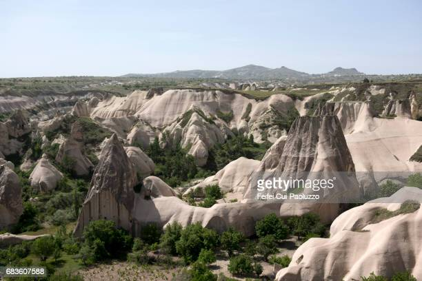 View on fairy chimney rock of Göreme, Turkey