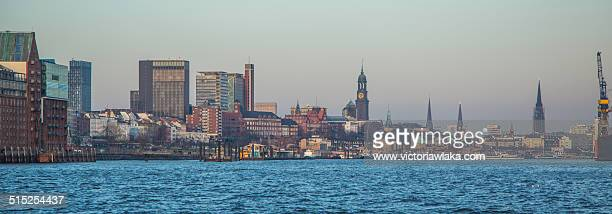 View on Hamburg from the Elbe River