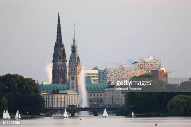 view on Hamburg skyline