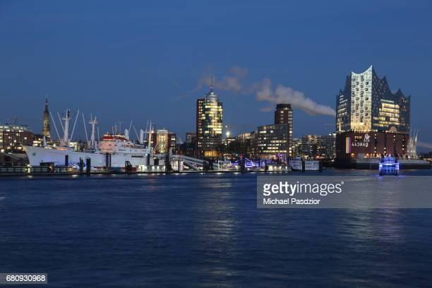 View on HarbourCity skyline with Elbphilharmonie