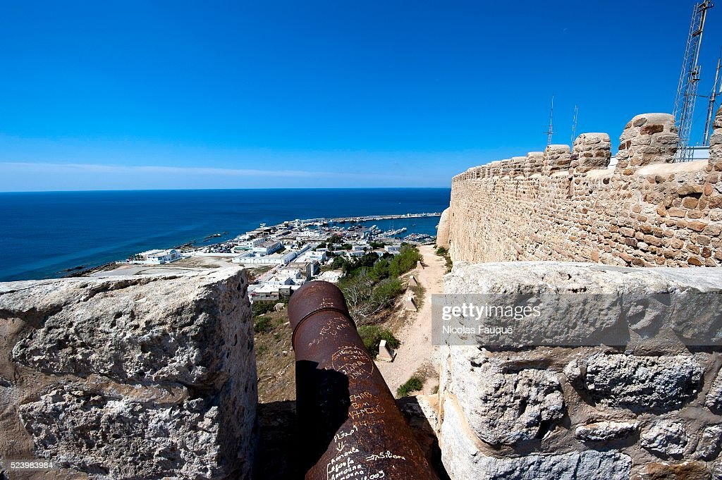 View on Kelibia from the byzantine fortress overhanging the coastal city of Kelibia on the Good Cap Kelibia is a coastal town on the Cap Bon...