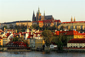 View on St. Vitus Cathedral and Vltava river