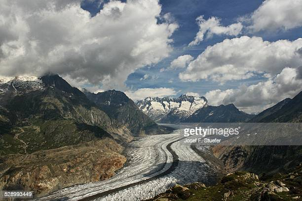 View on the Aletsch glacier