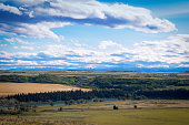 View on the Bow Valley from the Glenbow Ranch nProvincial Park located between Calgary and Cochrane in Alberta,Canada.