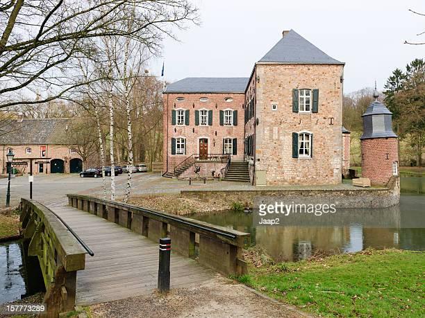 View on the Dutch Erenstein castle in Kerkrade