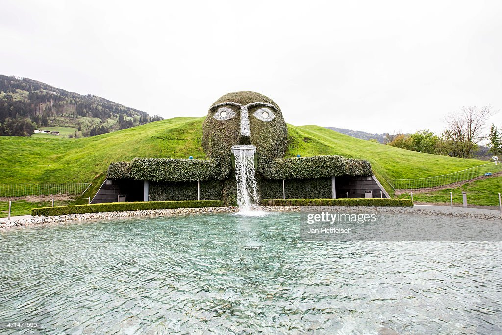 A view on the 'Giant' of the Swarovski Crystal Worlds during the grand reopening on April 28 2015 in Wattens Austria The Crystal Worlds was...