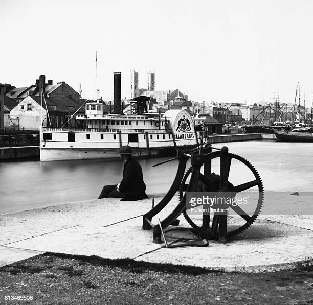 View on the Lachine Canal near Monteal Canada 1859 Photo by William England for LSC D 1896 The chief photographer of the London Stereoscopic Company...