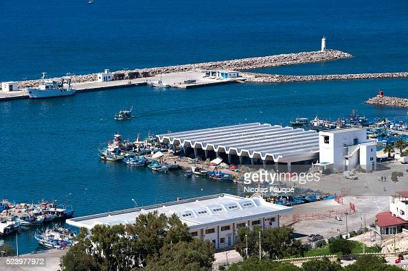 View on the port of Kelibia from the byzantine fortress overhanging the coastal city of Kelibia on the Good Cap Kelibia is a coastal town on the Cap...