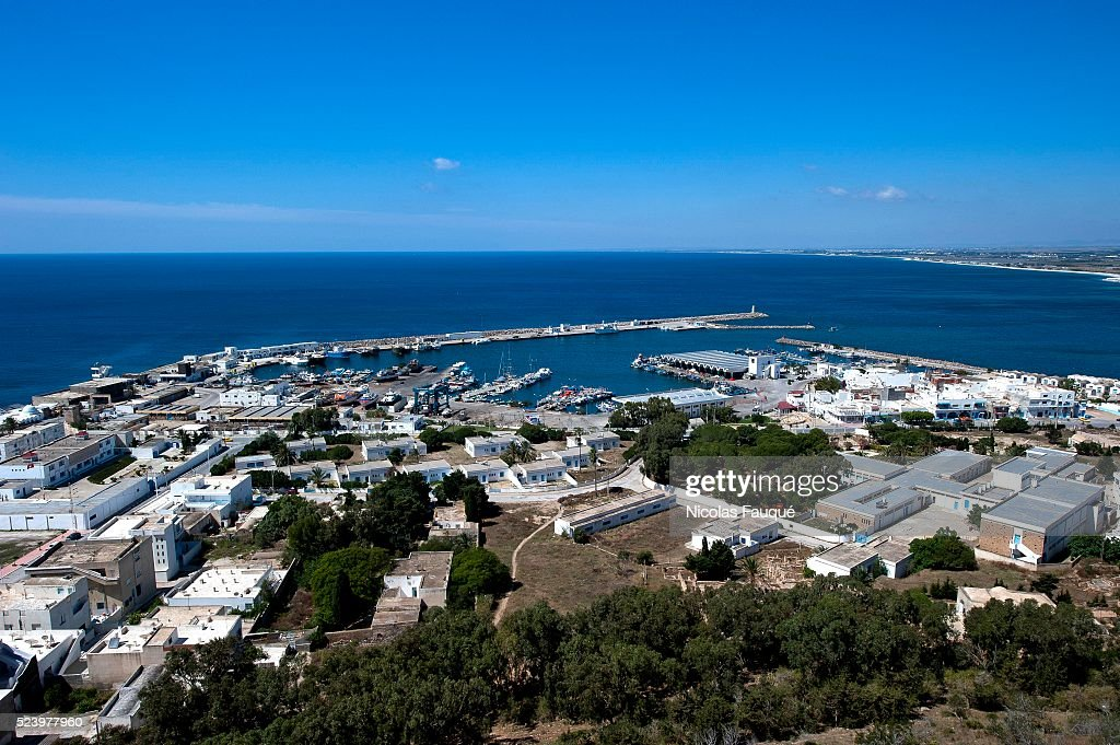 View on the port of Kelibia since the byzantine fortress overhanging the coastal city of Kelibia on the Good Cap Kelibia is a coastal town on the Cap...