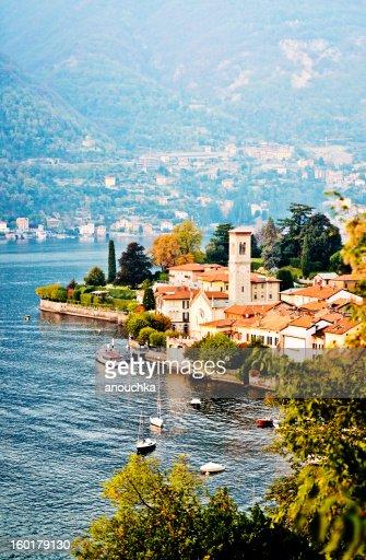 View on Torno village, Lake Como, Italy