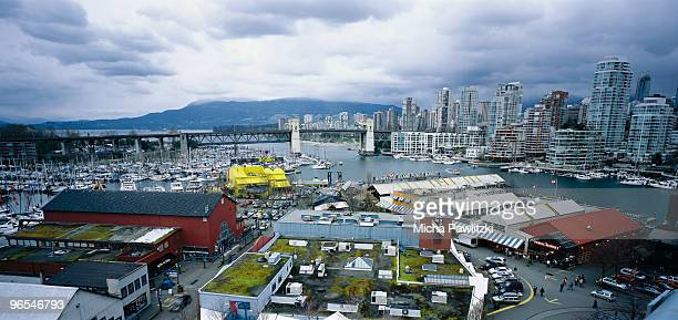 View on Vancouver BC and Granville Island