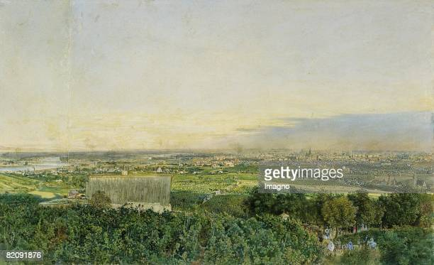 View on Vienna seen from the Krapfenwaldl Watercolour Superscribed 'R Alt___872' Inv National Collection for Graphics Munich [Blick auf Wien vom...